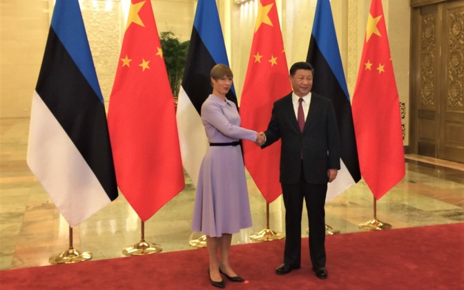 Estonian president meets with Chinese president in Beijing