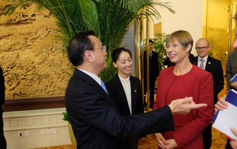 President Kaljulaid arutas Hiina peaministriga majanduskoostööd