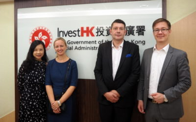 Dewdrops Group met InvestHK to discuss Estonian business in Hong Kong